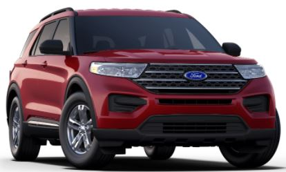 2020 Ford Explorer Rapid Red