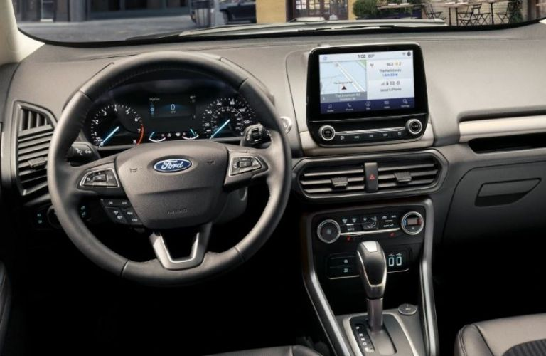 2020 Ford EcoSport dash and wheel view