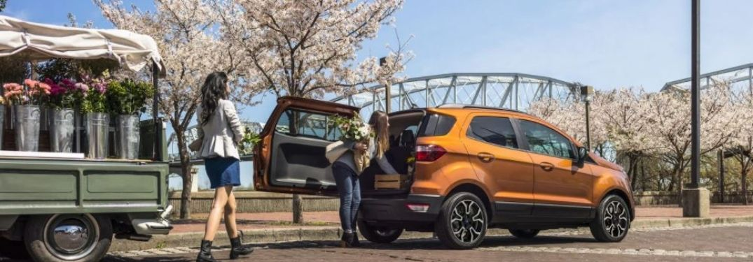 2020 Ford EcoSport parked outside side rear view
