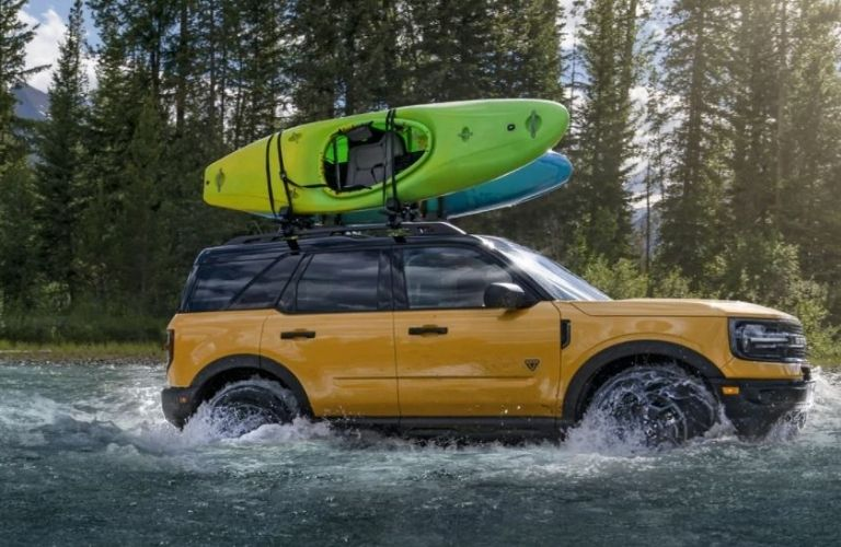 2021 Ford Bronco Sport driving in water