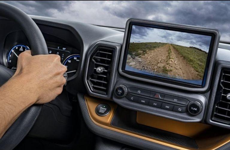 2021 Ford Bronco Sport interior dash and wheel