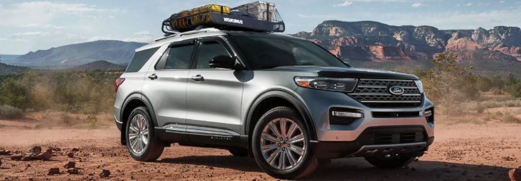 2021 Ford Explorer parked front view