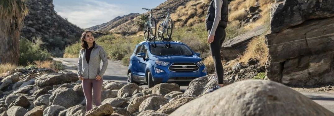 2021 Ford EcoSport parked near rocks