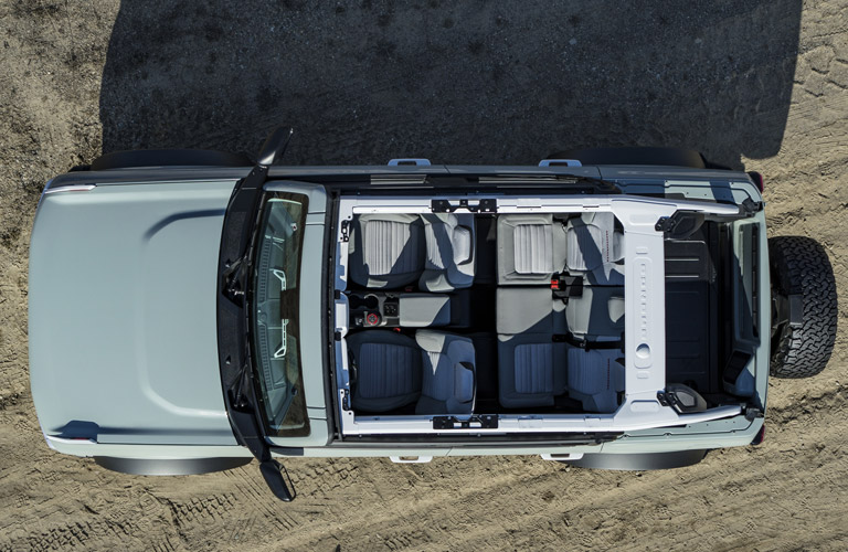 2021 Ford Bronco Outer Banks top view