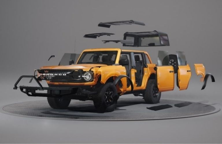 2021 Ford Bronco different parts