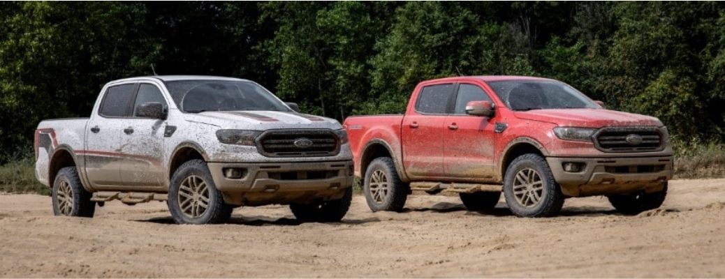 2021 Ford Ranger XLT and Lariat next to each other