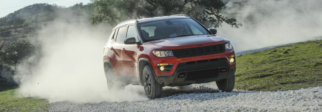 ... Front And Side View Of Red 2019 Jeep Compass