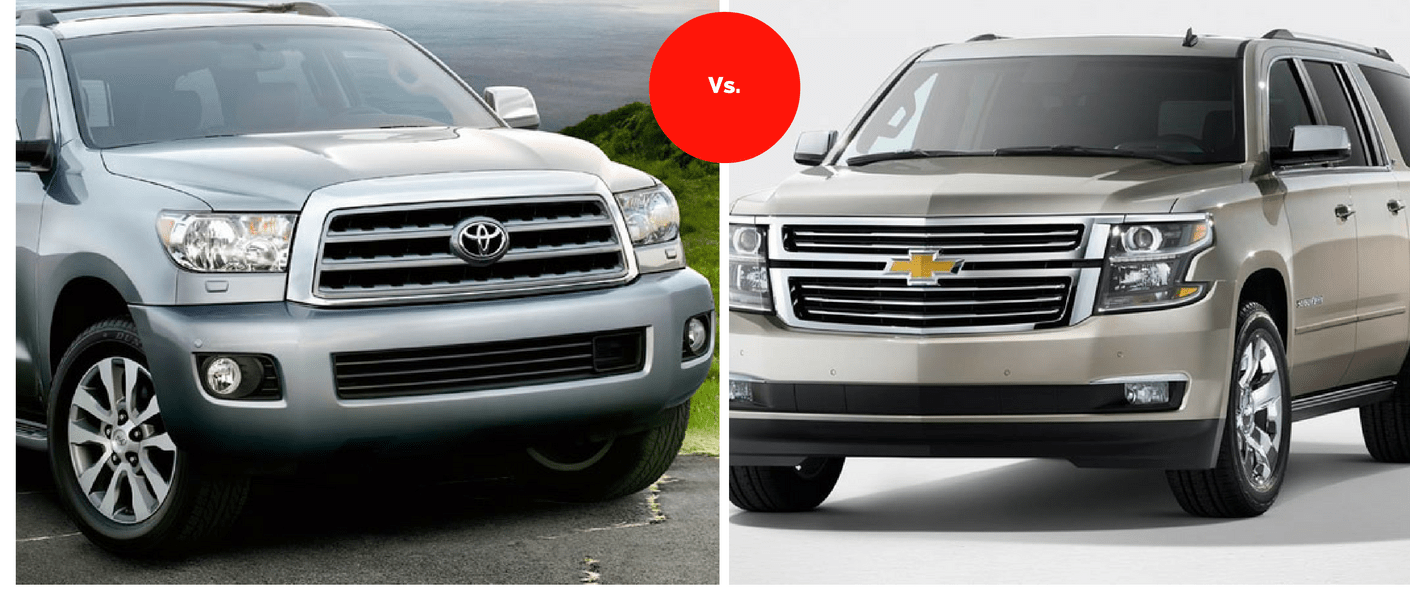 Compare the Toyota Sequoia vs. Chevrolet Suburban