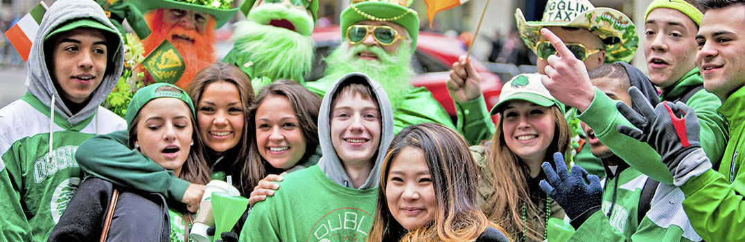 People Celebrating St. Patrick's Day