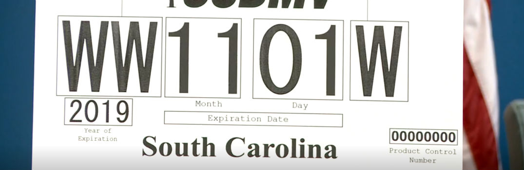 What is the South Carolina Temporary Tag law?
