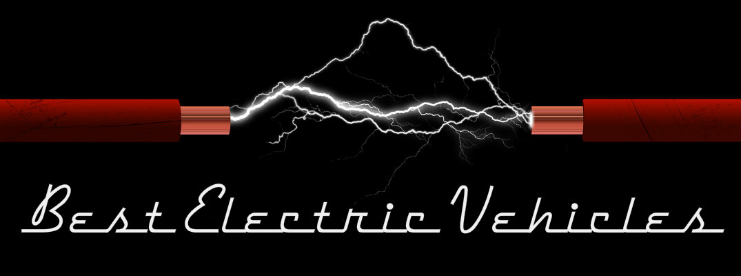 "Electricity striking against black background with ""Best Electric Vehicles"" text"