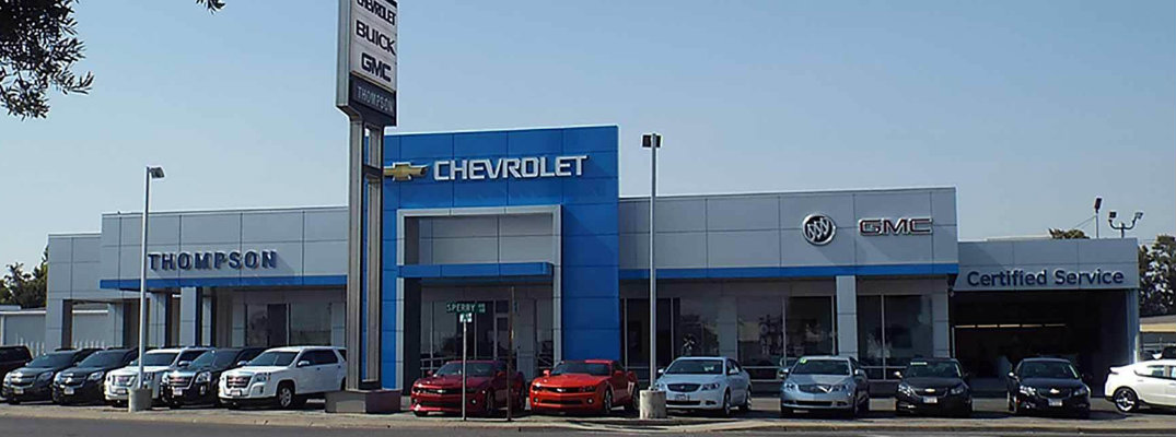 Exterior view of the Thompson Chevrolet dealership