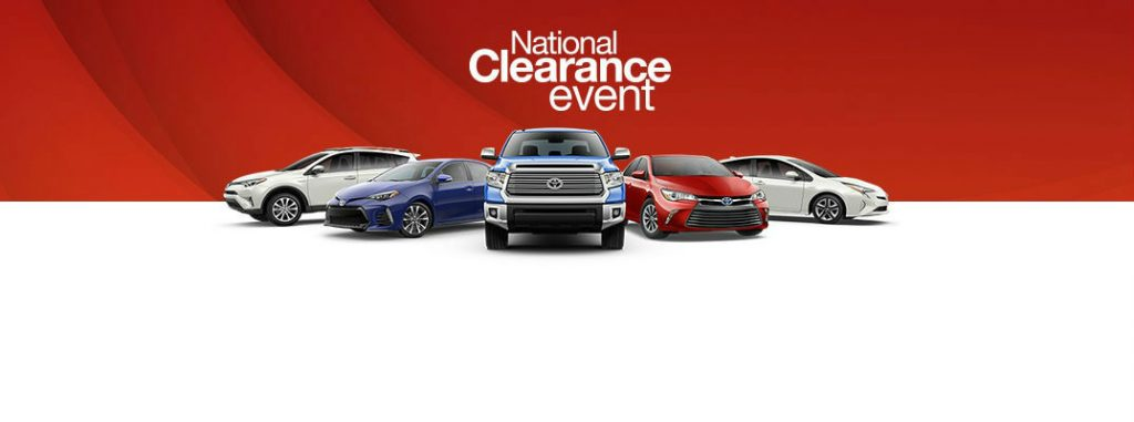 Year End 2017 Toyota National Clearance Event Sales And