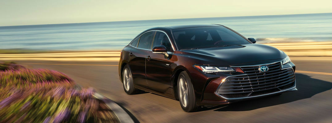 2019 Toyota Avalon Driving on a Coast Road