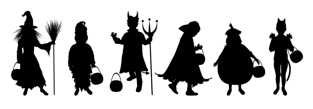 silhouette of costumes