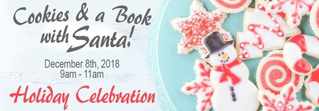 cookies and a book with santa