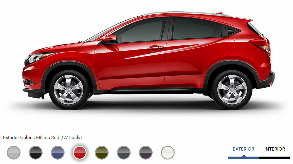Honda Crv And Hrv >> 2016 Honda HR-V exterior color options Milano Red - Patty Peck Honda
