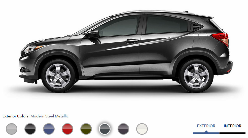 Honda Graduate Program >> 2016 Honda HR-V exterior color options Modern Steel Metallic - Patty Peck Honda