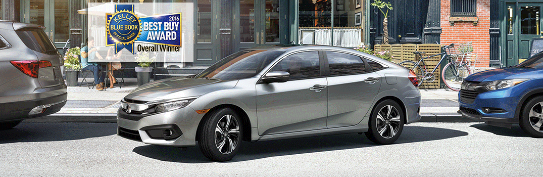 """Kelley Blue Book Named the 2016 Honda Civic """"Overall Best Buy of the Year"""""""