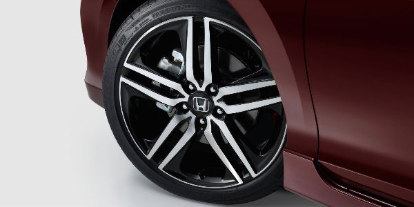 2017 Honda Accord Sport 19-inch Alloy Wheels with maroon exterior
