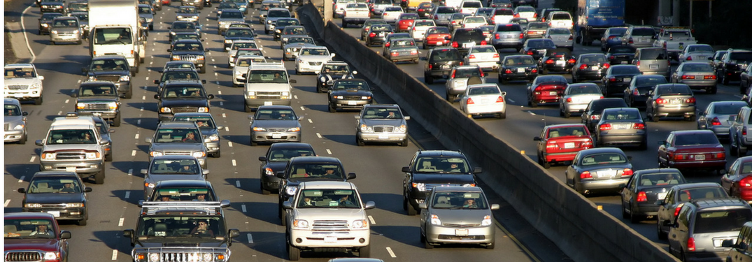 Cars on highway in traffic