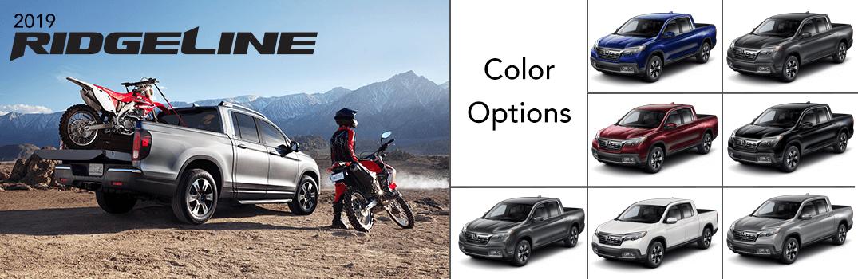2019 Honda Ridgeline Color options