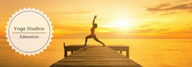 Yoga Studios Edmonton and a Woman Doing a Yoga Pose on a Dock