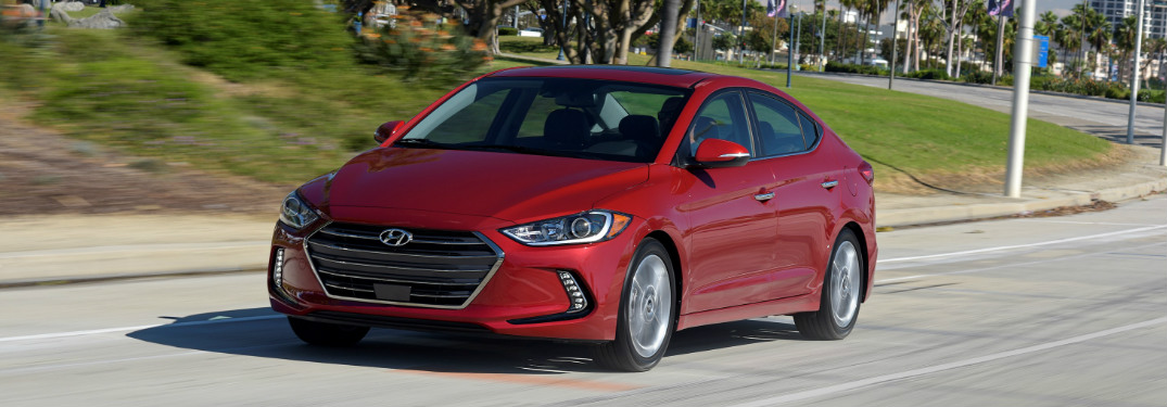 2018 Hyundai Elantra exterior and front grille in red