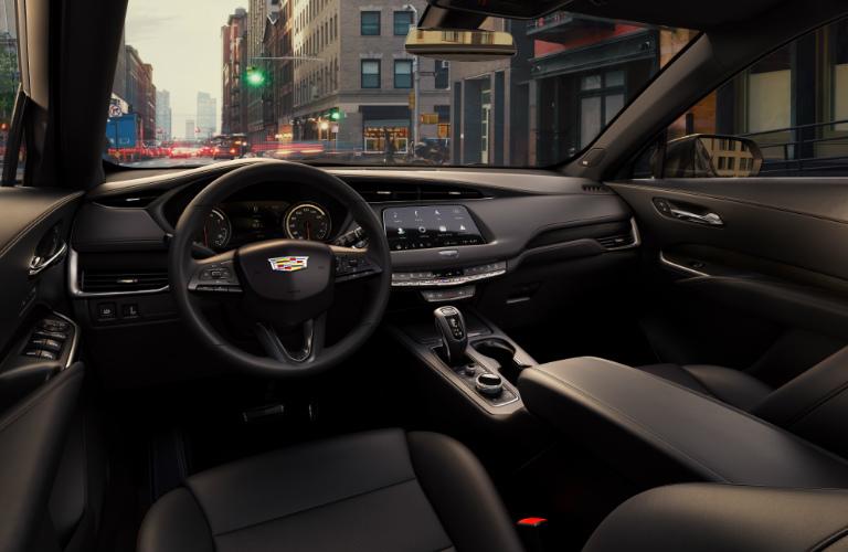 2019 Cadillac XT4 steering wheel and dashboard