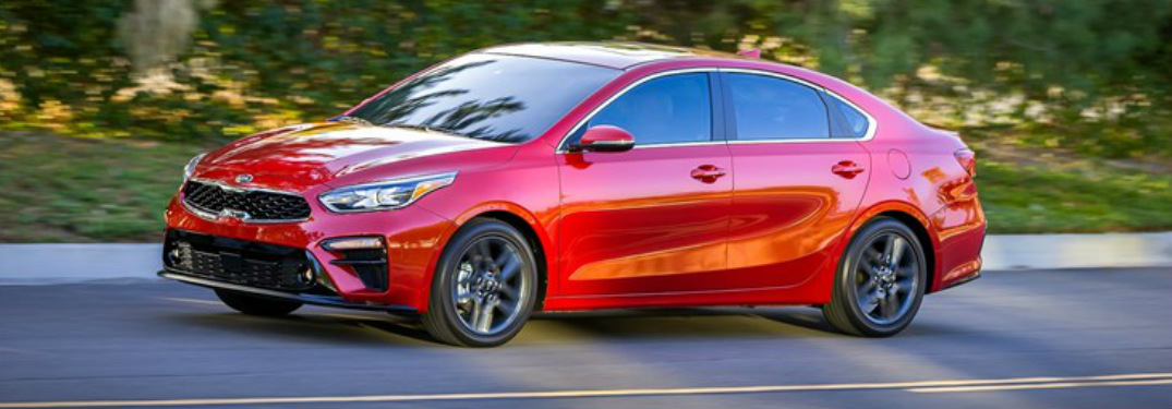 2019 Kia Forte exterior in Currant Red