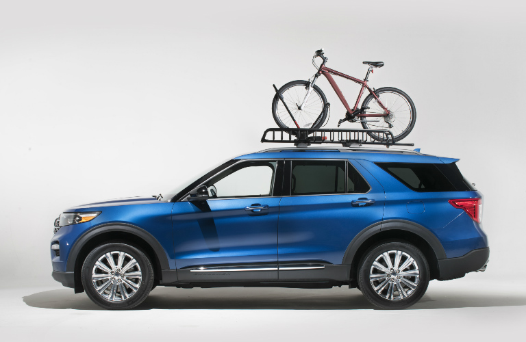 2020 Ford Explorer with Yakima bike rack
