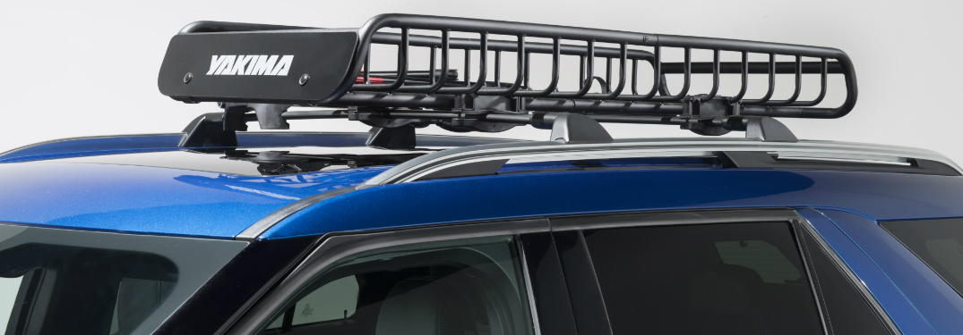 2020 Ford Explorer with a Yakima roof rack
