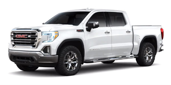 What paint colors does the 2019 GMC Sierra come in?