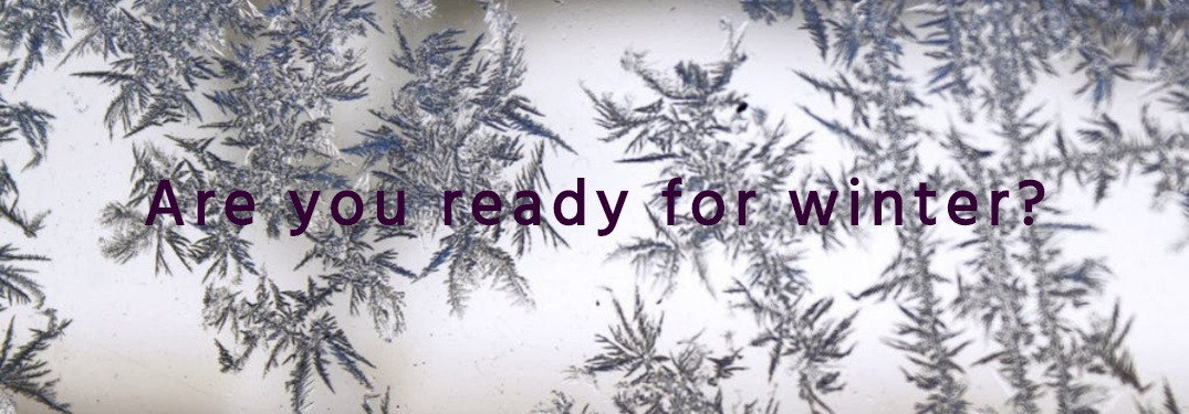 Are you ready for winter with snowflakes in background