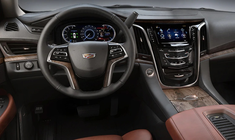 2020 Cadillac Escalade Luxury Kona Brown Leather Interior