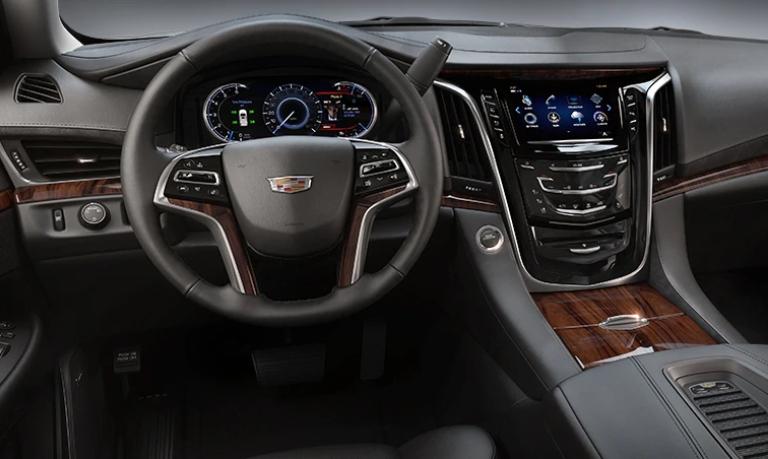 2020 Cadillac Escalade Standard Jet Black Leather Interior