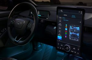 2021 Ford Mustang Mach-E Wheel and Display Screen