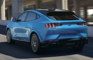 2021 Ford Mustang Mach-E driving away