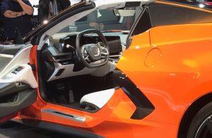 2020 Chevrolet Corvette with driver's side door open