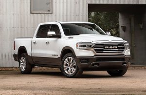 2020 RAM 1500 in front of white barn