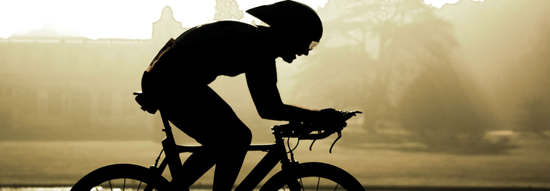silhouette of man racing in foggy area