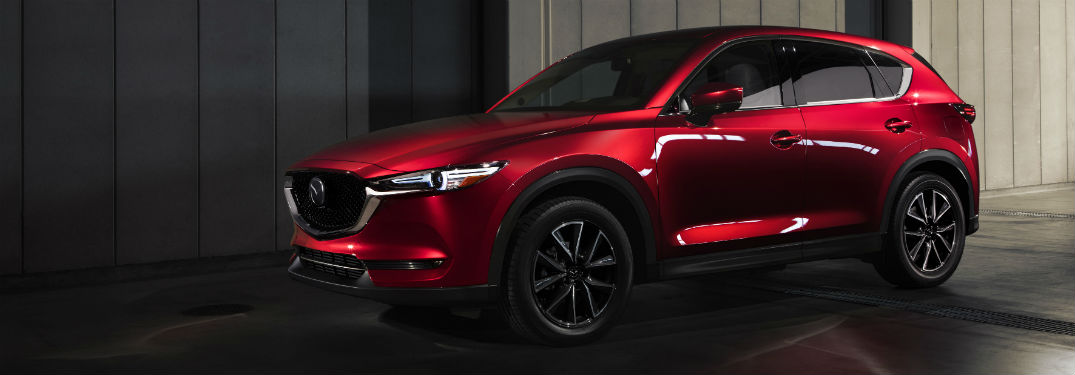 2018 Mazda CX-5 exterior front fascia and drivers side in shaded building