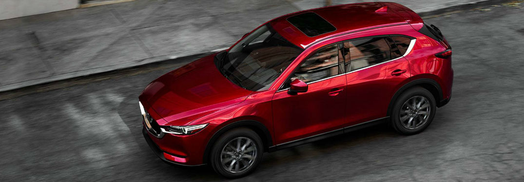 Overhead view of the Mazda CX-5