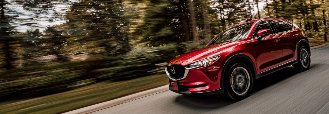 2019 Mazda CX-5 Signature Diesel driving on a road