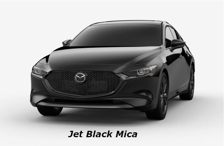 2019 Mazda3 Hatchback Jet Black Mica color option