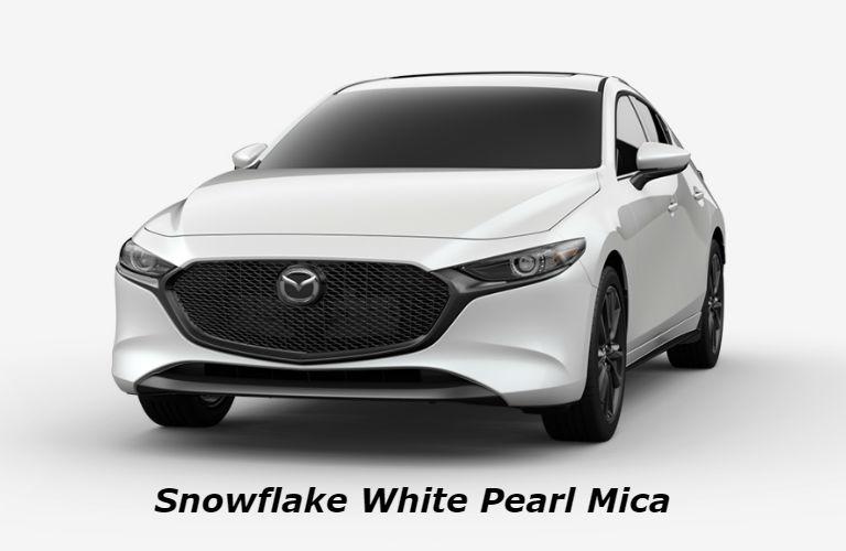 2019 Mazda3 Hatchback Snowflake White Pearl Mica color option