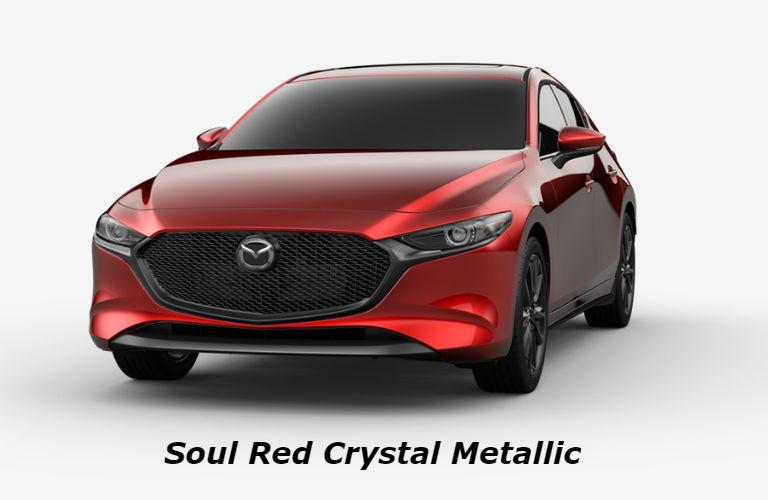 2019 Mazda3 Hatchback Soul Red Crystal Metallic color option