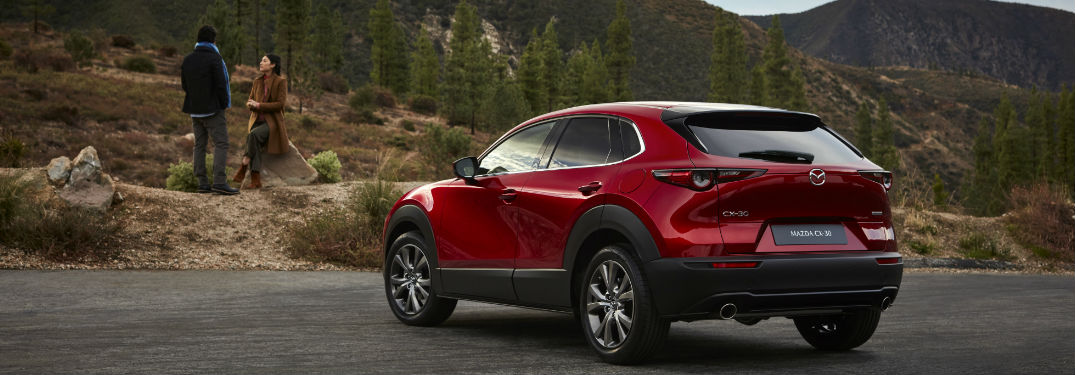 2020 Mazda CX-30 side and rear profile