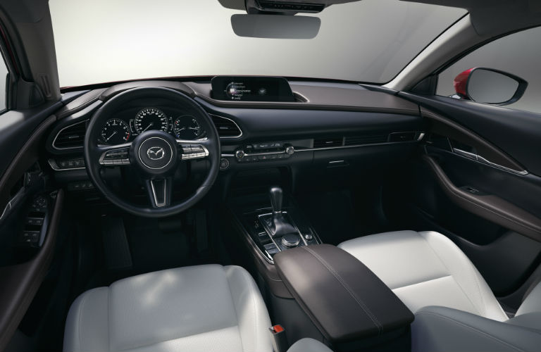 2020 Mazda CX-30 dashboard and steering wheel