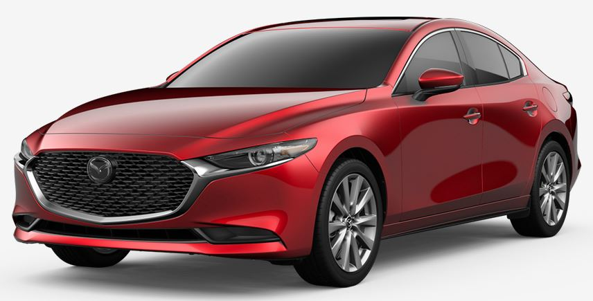2020 Mazda3 Sedan Soul Red Crystal Metallic